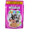 Whiskas Junior Mancare pt Pisici cu Carne de Pasare