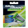 Gillette Mach 3 Sensitive Rezerve pentru Aparatul de Ras + Aparat de Ras Fusion Proglide