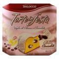 Balocco Cozonac cu Crema de Smantana Dulce si de Ciocolata