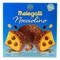 Melegatti Cozonac Copt Umplut cu Crema de Alune de Padure si Glazura de Ciocolata