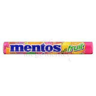 Mentos Drajeuri Gumate cu Aroma de Fructe